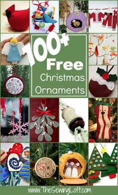 100+ Free Christmas Ornaments Patterns Rounded Up in one place. The Sewing Loft