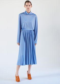 Sunray Pleated Skirt in Lavender Fluid Jersey