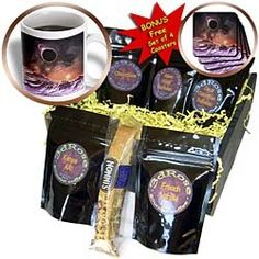 Perkins Designs Science Fiction - Cosmic range planetary mountain range with a colorful cosmos space background - Coffee G...