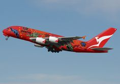 Australian Airbus Don't know if this is Photoshopped or not but I have not heard of Qantas embellishing a Qantas A380, Airbus A380, A380 Aircraft, Passenger Aircraft, Helicopter Cockpit, Australian Airlines, Plane Photos, Airplane Decor, Aircraft Painting