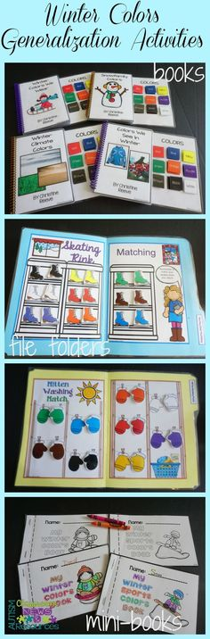 Early childhood and special education teachers can prep ahead for the busy months ahead with these cute color tasks.  They include interactive books, file folder matching, mini color books, find the color sheets, and cookie sheet activities all designed to practice 9 colors.  These are great for discrete trial programs for children with autism and early childhood.