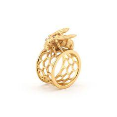 My design inspiration: Honeycomb Ring on Fab.