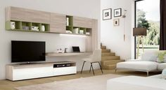 19 Captivating TV Stand Designs That Are Worth Seeing TV stand, nowadays, is the most used item in the living room. It's called a TV stand (table) but is not intended only for the TV. Living Room Tv, Home And Living, Tv Furniture, Furniture Design, Home Office Design, Home Interior Design, Desk Wall Unit, Wall Units, Tv Units