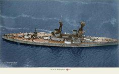 kit o el cuadro HMS Tiger Nave Crest Cross Stitch Design