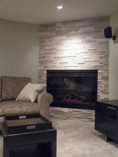 corner fireplace stone