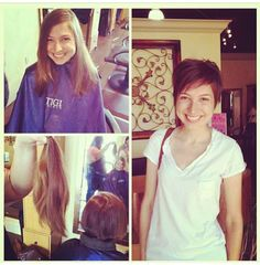 Before and after! Pixie cut. Short hair. Haircut by leeleethahairqueen.