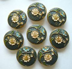 vintage buttons   Antique Metal Buttons on Pinterest   Antique Metal, Antique Brass and ...