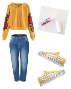 """Untitled #68"" by haileymagana on Polyvore featuring LE3NO and Vans"