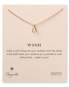 Dogeared Wish Necklace, 18"