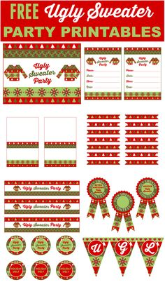Here's an epic list of 21 ugly sweater Christmas party ideas you won't want to miss! If an ugly sweater Christmas party is part of your holiday plans this year, take note. From ugly sweater Tacky Christmas Party, Tacky Christmas Sweater, Noel Christmas, Christmas Fashion, Xmas Party, Holiday Parties, Holiday Fun, Christmas Ideas, Bunco Party