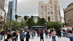 Downtown on Ice skating rink #DTLA #LosAngeles <--have I mentioned that I love LA? Okay, maybe not today, so please know that I do! ♥ #travel #California #AccorBucketList