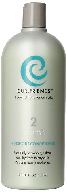 CurlFriends Nourish Rinse out Conditioner, Totally Eliminate Tangles and Frizz Instantly, Best Curly hair Conditioner, Great Detangle for Kids! * Be sure to check out this awesome product. (This is an affiliate link) #HairConditioner