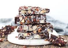 berry and nut rocky road
