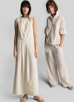 Cotton ✛ Linen. Shop @MAXSTUDIO Spring Embroidery on http://www.styleforfree.com/#stylebuzz