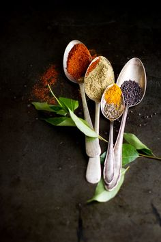 Herbs and Spices - Kruiden en Specerijen Food Styling, Food Photography Styling, Photography Portfolio, Menue Design, Food Design, Aloo Curry, Spices And Herbs, Curry Leaves, Spice Things Up