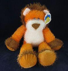 Good Stuff Orange Brown Stuffed Plush Lion MWT Cute Animal Tags | eBay