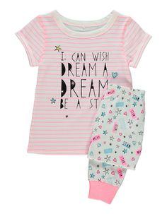 Neon Stripe Pyjama Set   Kids   George at ASDA
