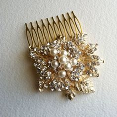 Hey, I found this really awesome Etsy listing at https://www.etsy.com/listing/169520643/gold-hair-comb-winter-wedding-wedding
