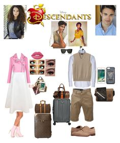 """""""Gabriel and Tessa (son and daughter of Princess and the Frog)"""" by guadalupe-pablo ❤ liked on Polyvore featuring Disney, Traveler's Choice, Stone Rose, Louis Vuitton, Lanvin, Collectif, Younique, Lands' End, Grenson and Coach"""