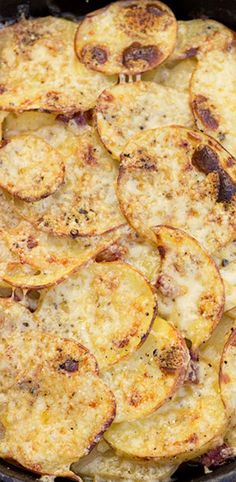 Potatoes, Bacon and Sauteed Onions, topped with Dubliner Cheese