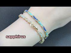 【ハンドメイド】特小ビーズで編むブレスレットの作り方☆シードビーズだけで編めます How to make a bracelet with seed beads. Size 15/0. - YouTube