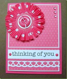 Another cupcake liner flower card!