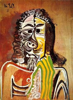 Pablo Picasso, 1969 Homme barbu on ArtStack #pablo-picasso #art