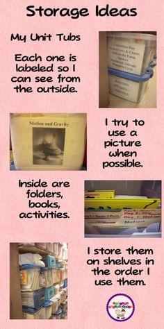 Fern Smith's Guest Blogger ~ Mary Amoson's Unit Tubs to Organize Your Classroom!