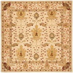 Safavieh Handmade Oushak Ivory Wool Rug (8' Square)