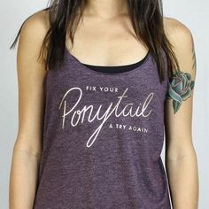 New year, new us, new YOU! Get ready for our new 2017 collection coming soon! In the meantime, get yourself an early released Fix Your Ponytail 2.0 shirt on our new slouchy racerback ✨👌🏻 https://www.inspiration.fit/collections/tanks-motivation/products/ponytail-srt  #fitness #fashion #fixyourponytail #apparel #fitnessapparel