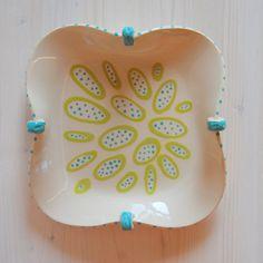 Ceramic tray ceramics tray handmade tray colorful by PotsbyNives