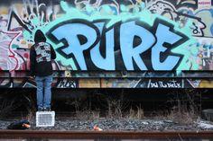 Bushwick graffiti, rail yards