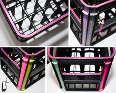 washi tape crates