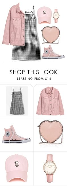 """""""Millenial Pink"""" by khriseus ❤ liked on Polyvore featuring Converse, STELLA McCARTNEY, Topshop, Pink, gingham and millenialpink"""