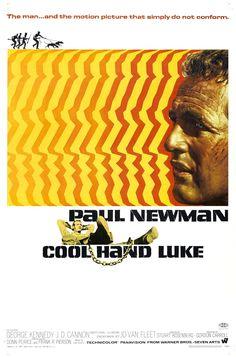 """MP592. """"Cool Hand Luke"""" Movie Poster by Bill Gold (Stuart Rosenberg 1967) / #Movieposter"""