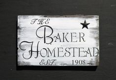 Personalized Family Homestead Sign Custom Family Established