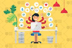Online Business Workspace With Woman By Barsrsind Shop