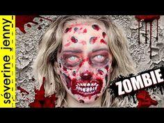 Maquillage Halloween : Zombie Gore / Qui Fait Peur (sans latex) - YouTube