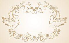 鳩のフローラル飾り枠                                                       …