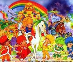 """In Danish it's """"Regnbue Rita"""". In English it's """"Rainbow Brite"""". I had a Rainbow Brite puzzle when I was a kid Love Rainbow, Rainbow Colors, Bright Colors, Rainbow Brite, 80s Kids, I Remember When, My Childhood Memories, 1980s Childhood, Sweet Memories"""