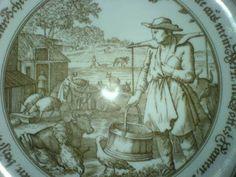 Wandteller Hutschenreuther Der Bauer Pieroth Porzellan
