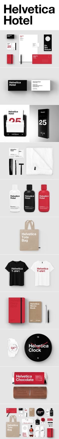 Designer Re-imagined Helvetica as a Hotel