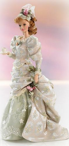 Victorian Tea  Barbie First in Series  Mint Memories  Porcelain  1998