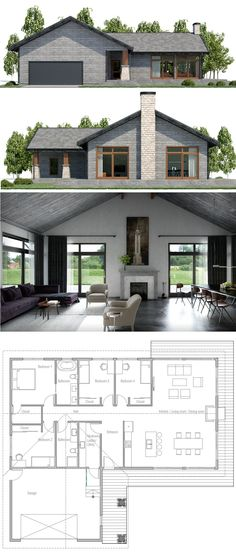 Modern Farmhouse Plans, House Designs, Home Plans - Build Container Home New House Plans, Dream House Plans, Modern House Plans, Small House Plans, House Floor Plans, Simple Home Plans, Modular Home Plans, Building A Container Home, Container House Plans