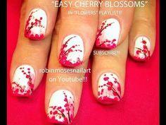 cool Nail Art Tutorial | Easy Cherry Blossom Nail Art Design for beginners