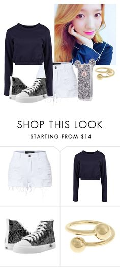"""""""Practicing"""" by rubydna ❤ liked on Polyvore featuring LE3NO, Boohoo and J.W. Anderson"""