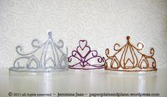 coroas de princesa feita com garrafa pet