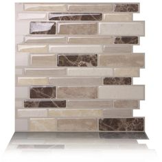 Tic Tac Tiles Polito Bella 10 in. W x 10 in. H Peel and Stick Self-Adhesive Decorative Mosaic Wall Tile Backsplash - The Home Depot Self Adhesive Wall Tiles, Mosaic Wall Tiles, Peel And Stick Tile, Stick On Tiles, Stick On Kitchen Backsplash, Backsplash Tile, Rustic Backsplash, Kitchen Tile, Backsplash Ideas