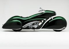 This remarkable art deco motorcycle was designed and built by master bike builder Arlen Ness, based in Dublin, California.