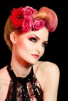 The Modesty Girls ✄: 50's-Pinup-Rockabilly Hair... pretty
